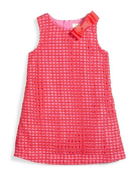 kate spade new york sleeveless lace shift dress, pink, size 7-14