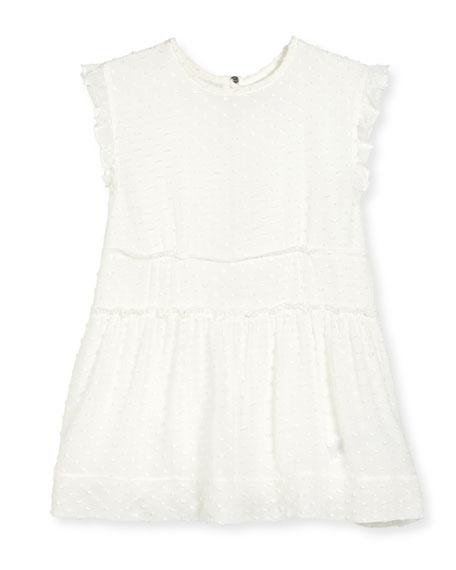 Burberry Janina Sleeveless Boucle Shift Dress, White, Size
