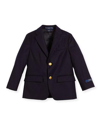 Lessona Wool Blazer, Navy, Size 8-10