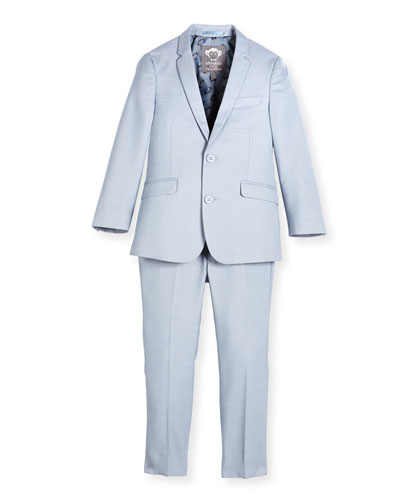Modern Two-Piece Suit, Light Blue, Size 2-14