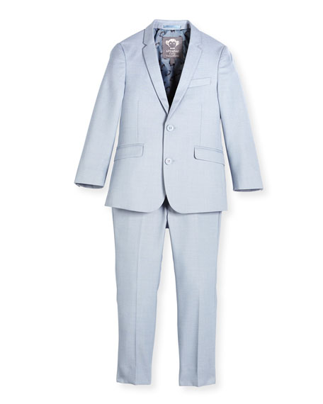 Appaman Modern Two-Piece Suit, Light Blue, Size 2-14