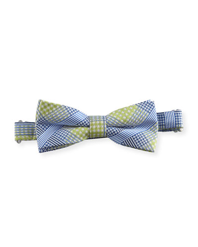 Pre-Tied Plaid Bow Tie, Green