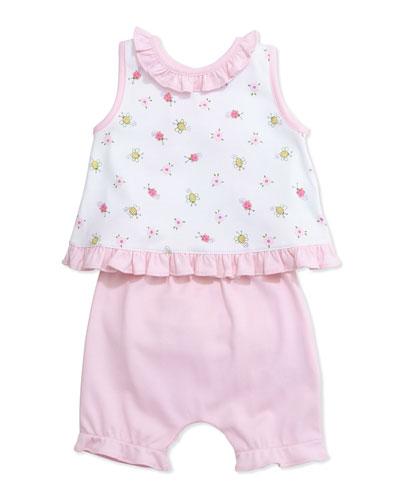 Pima Summer Sun Suit, Pink, Size 0-9 Months