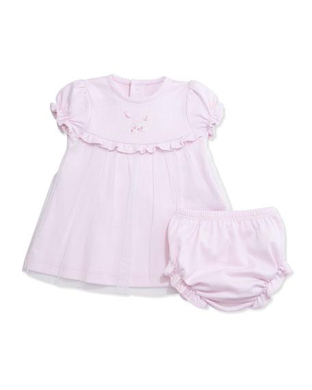 Kissy Kissy Summer Garden Pima Shift Dress w/ Bloomers, Pink, Size 3-9 ...