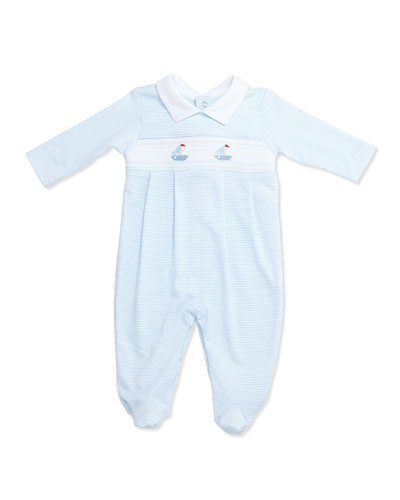 Wind Song Pima Footie Pajamas, Light Blue, Size Newborn-9 Months