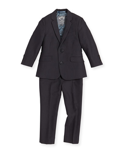 Boys' Two-Piece Mod Suit  Vintage Black  2T-14