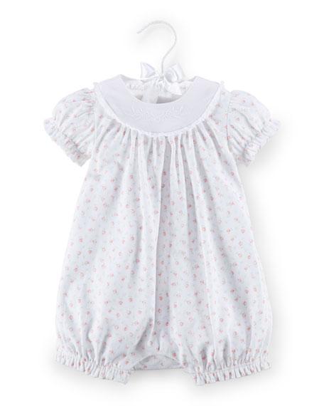 Ralph Lauren Childrenswear Floral Pima Bubble Playsuit, White,