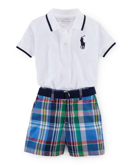 Ralph Lauren Childrenswear Tipped Basic Mesh Polo Shirt