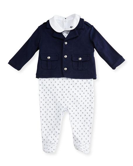 Ralph Lauren Childrenswear Pima Sailor Layette Set, White/Blue,