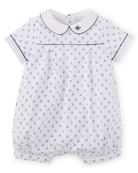 Ralph Lauren Childrenswear Anchor-Print Pima Bubble Shortall,