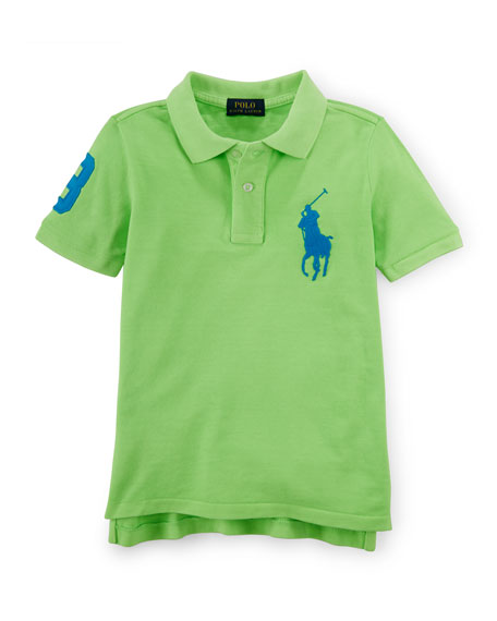 Ralph Lauren Childrenswear Short-Sleeve Cotton Pony Polo, Flo Ultra Lime, ...