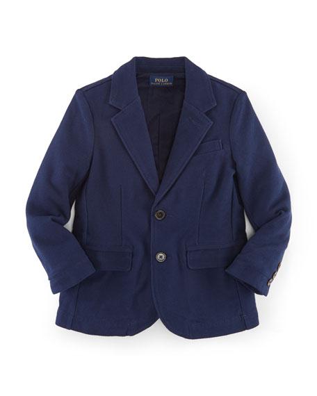 Ralph Lauren Childrenswear Cotton Jersey Novelty Blazer, Navy,