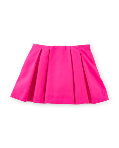 Pleated Taffeta Skirt, Pink, Size 2-6X