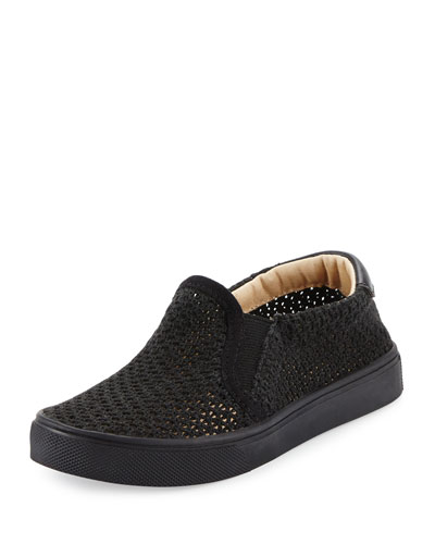 Liv Mesh Slip-On Sneaker, Black, Youth