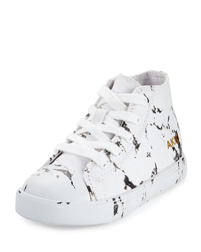 Anthony Marbled High-Top Sneaker, White, Toddler/Youth