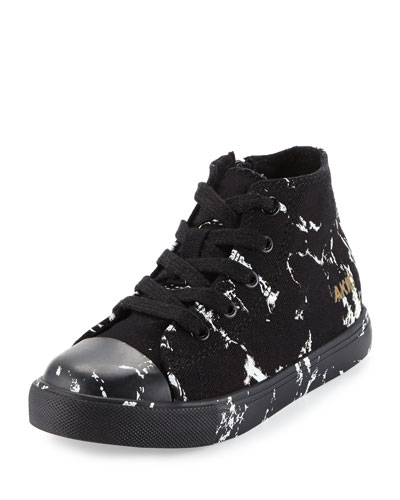 Anthony Marbled High-Top Sneaker, Black, Toddler/Youth