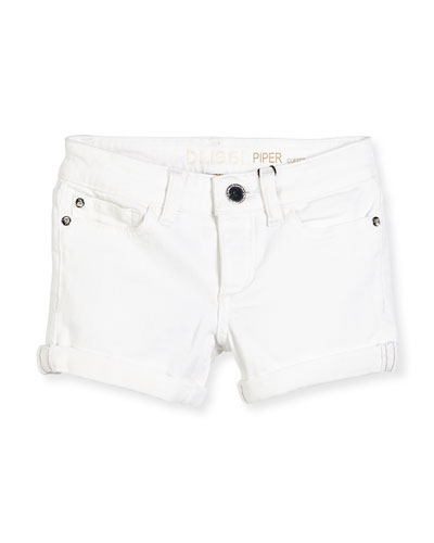 Piper Cuffed Denim Shorts, Griffon, 2-6