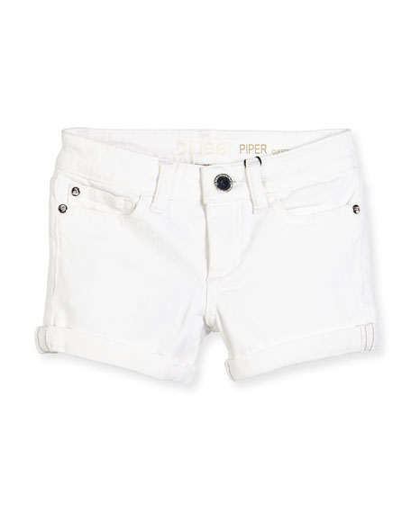 DL 1961 Premium Denim Piper Cuffed Denim Shorts,