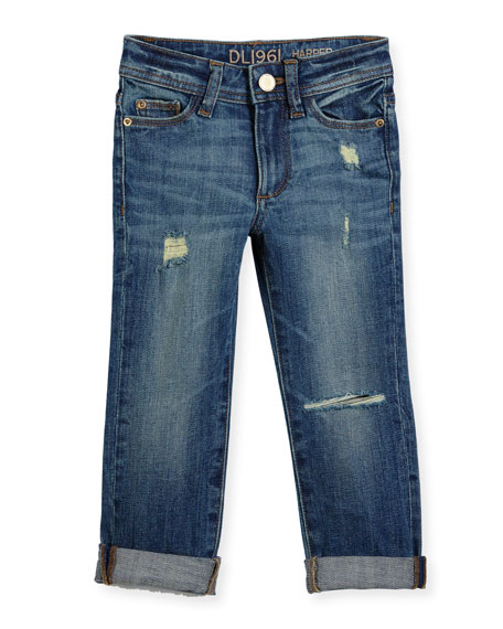 DL 1961 Premium Denim Harper Distressed Boyfriend Jeans,