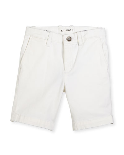 Jacob Stretch Chino Shorts, Ice Cap, Size 2-7