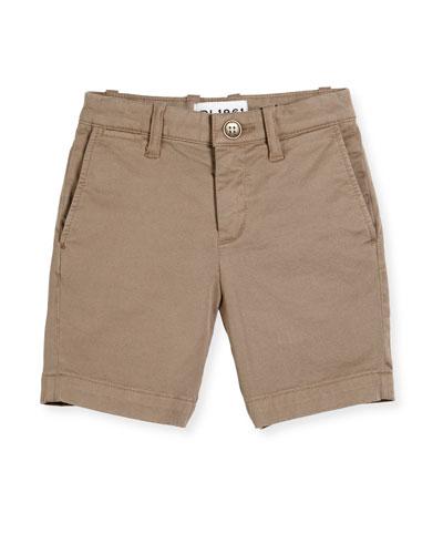 Jacob Stretch Chino Shorts, Cannon, Size 8-16