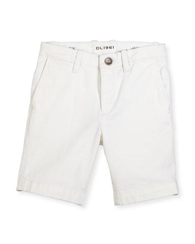 Jacob Stretch Chino Shorts, Ice Cap, Size 8-16