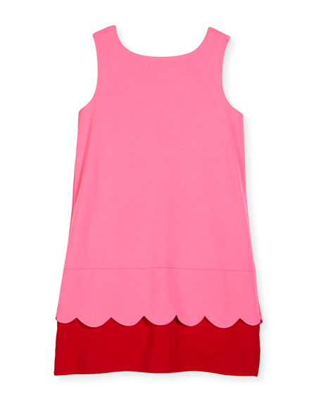 kate spade new york sleeveless bow-back ponte shift dress, pink/red, size ...