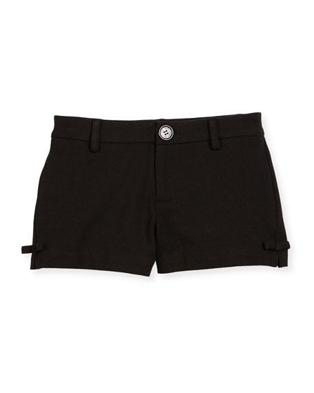 kate spade new york jackie ponte bow-trim shorts,