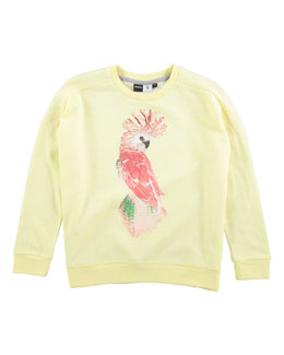 Cockatoo Pullover Sweatshirt, Yellow, Size 8-14