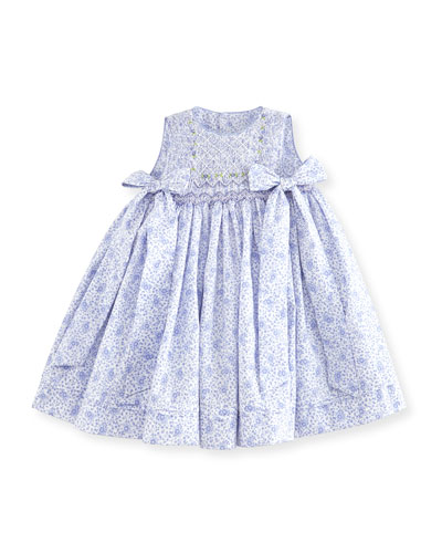 Sleeveless Smocked Floral Dress, Lilac, Size 12-24 Months