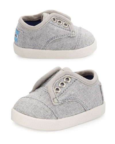 Canvas Paseo Slip-On Shoe, Light Gray, Tiny