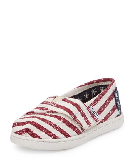 TOMS Classic Alpargata Stars and Stripes Canvas Shoe,