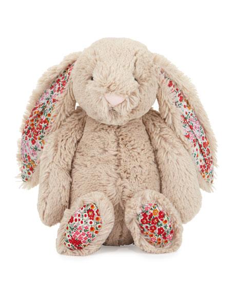 Medium Bashful Blossom Posy Bunny Stuffed Animal, Tan