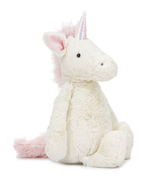 Large Bashful Unicorn Stuffed Animal, Cream