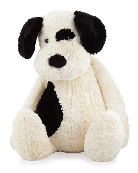 Jellycat Really Big Bashful Puppy Stuffed Animal, Black/Cream