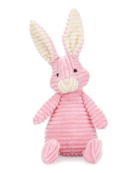 Jellycat Cordy Plush Hare Stuffed Animal, Pink