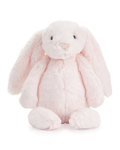 Plush Bashful Bunny Chime Stuffed Animal, Pink