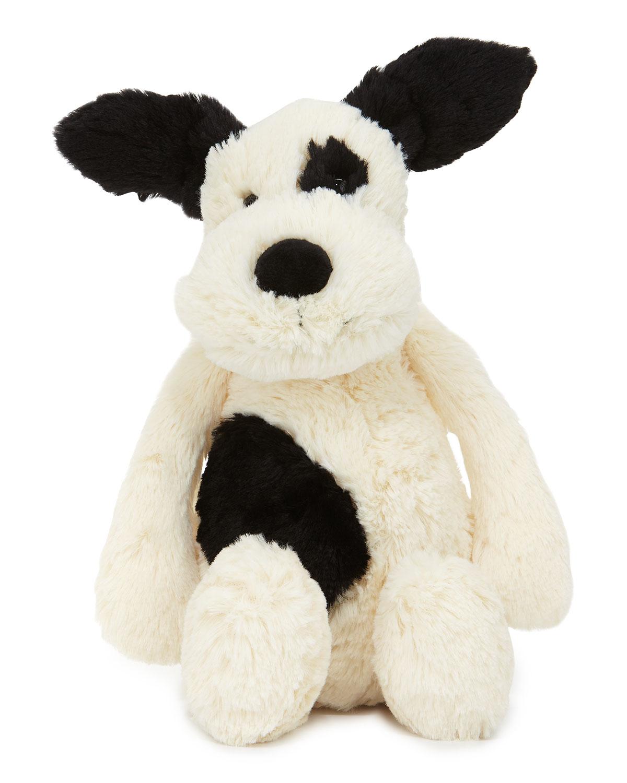 Jellycat Medium Bashful Puppy Stuffed Animal Black White Neiman