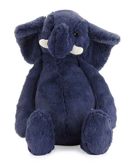 JellycatHuge Bashful Elephant Stuffed Animal, Blue
