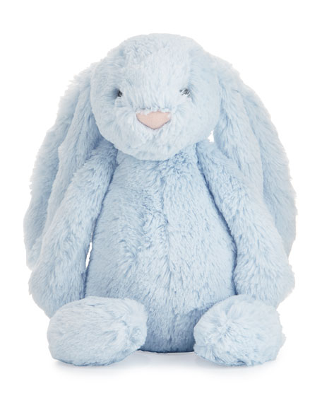 Jellycat Plush Bashful Bunny Chime Stuffed Animal, Blue