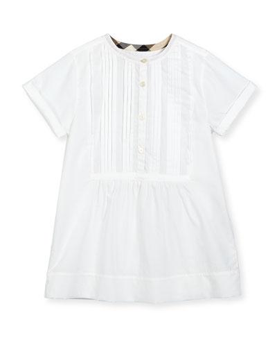 Dandy Short-Sleeve Beach Tunic, White, Size 4-14