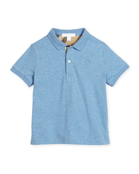 Mini PPM Jersey Polo Shirt, Hydrangea Blue, Size 4-14