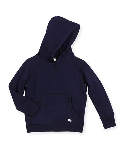 Damion Hooded Beach Sweatshirt, Navy, Size 4-14