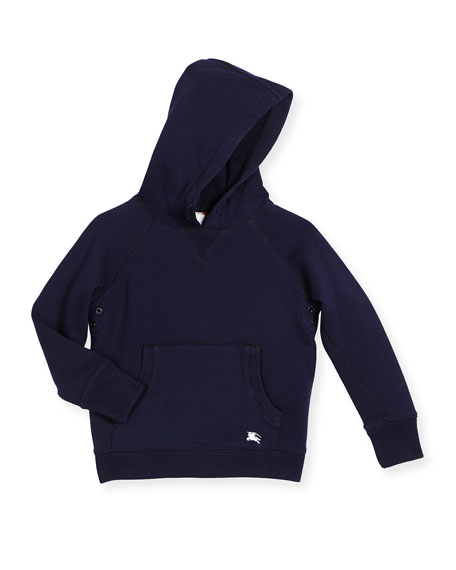 Burberry Damion Hooded Beach Sweatshirt, Navy, Size 4-14