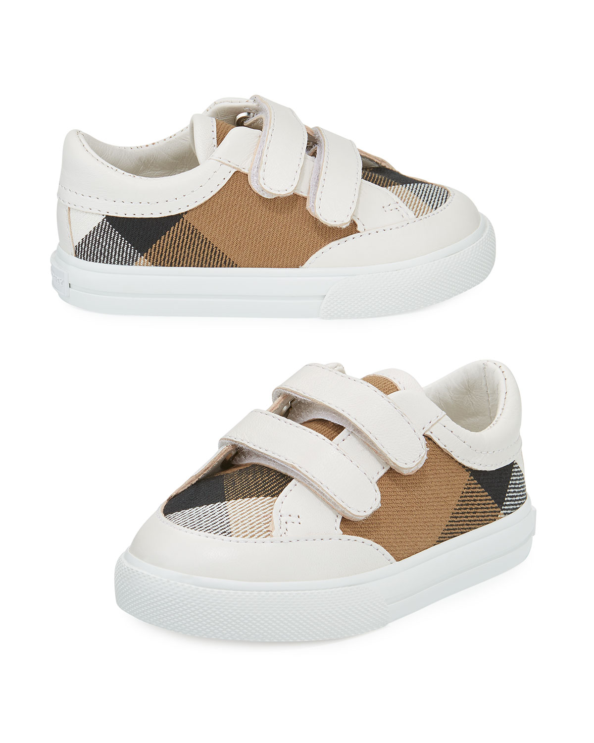 ecf4e2398178 Burberry Heacham Check Canvas Sneakers