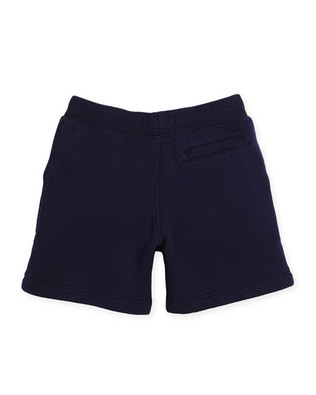 Davian Beach Sweat Shorts, Navy, Size 4-14