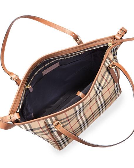 Horseferry Check Tote Diaper Bag, Tan