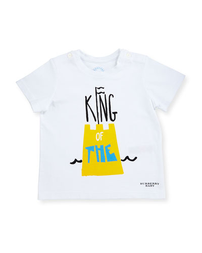 Mini Sandcastle Graphic Tee, White, Size 6M-3