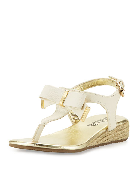 MICHAEL Michael Kors Perry Crysty Wedge Thong Sandal,