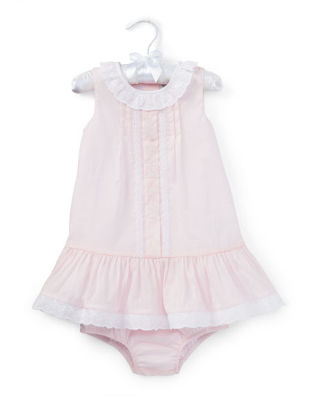 Ralph Lauren Childrenswear Pleated Cotton Voile Dress w/